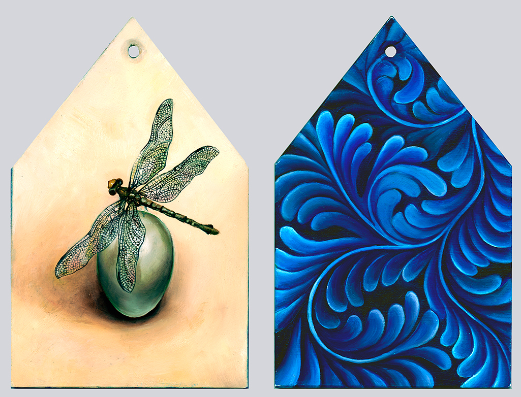 cathy weber - art - painting - woman - oil - montana - oil - object - house