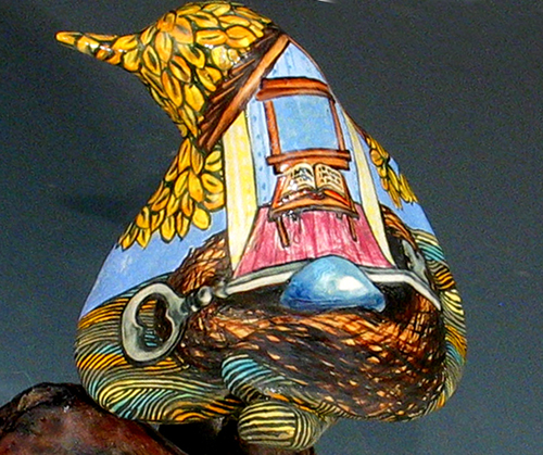 cathy weber - art - painting - woman - - montana -ceramic - porcelain - bird - narrative - clay- glazed-