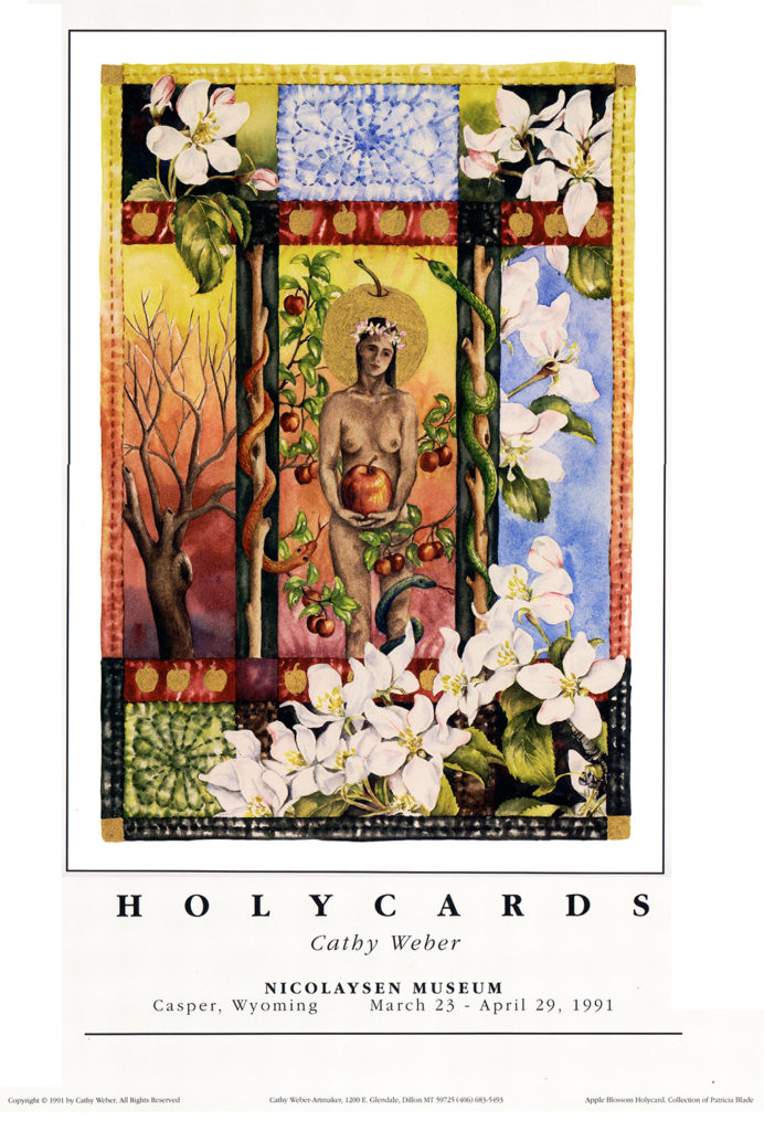 cathy weber - art - holy card - holycard - quilt - watercolor - butterfly - cacoon - stitcher - stitch - montana