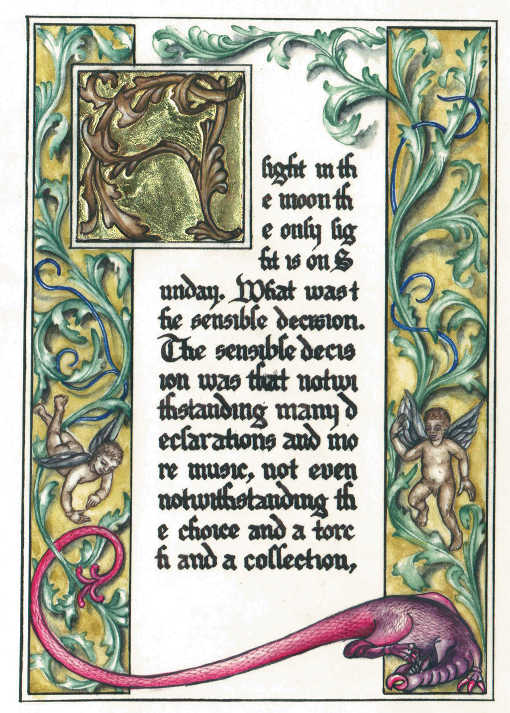 cathy weber - art - artmaker - watercolor - parchment- montana - Gertrude - stein - tender buttons - illumination - book - artist