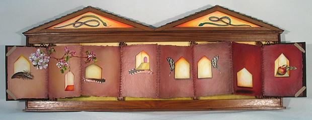 cathy weber - artmaker - montana - woman - oil paint - art - object - artist - book - house